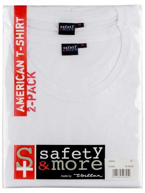 American-Basic-T-Shirt, 2er Pack, VE 30 Pack oder VE 10 Pack je Größe